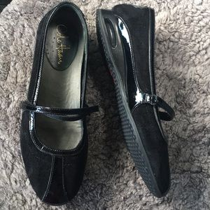 Cole Haan Nike Air Suede Patent Leather Shoes Sz 8